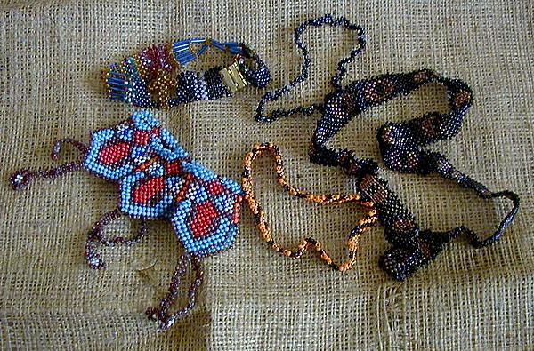 Рхемы плетения птиц из бисера