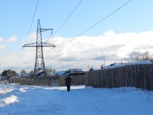 Зима, заборы, облака...