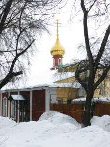 Благовещенская церковь в снегопад