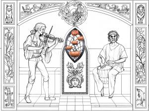 Джембе, скрипка