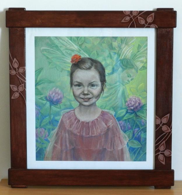 Портрет Полины. Пастель, картон. 42х47 см