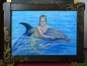 Портрет Ники к дню ее рождения в виде русалочки