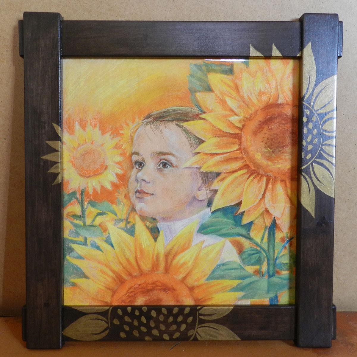 Портрет Насти. Картон, пастель. 42*44 см