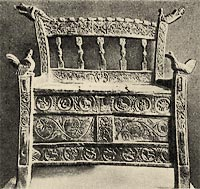 arm-chair is carved (Norway)