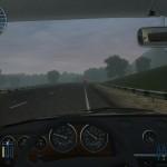 Горная дорога, утро, туман