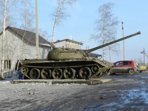 А это танк, Т 54 на котором мы останавливались полазить