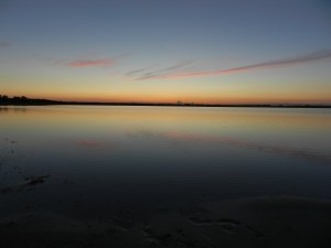 Малое горькое озеро. Закат